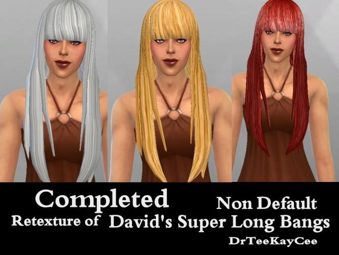 Sims 4 Retexture of Davids super long bangs at Sim Culture Nation