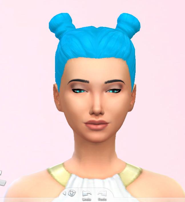 Sims 4 SKY BLUE HAIR at Star's Sugary Pixels
