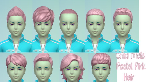 Pastel Pink Hairs for kids at Star's Sugary Pixels image 4728 Sims 4 Updates