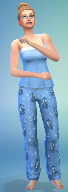 TARDIS Pajamas by ERae013 at Adventures in Geekiness image 4813 Sims 4 Updates