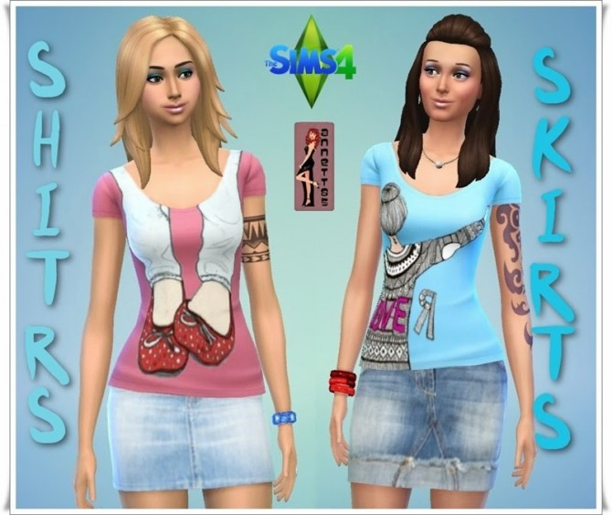 Shirts & Denim Skirts at Annett's Sims 4 Welt image 4831 Sims 4 Updates