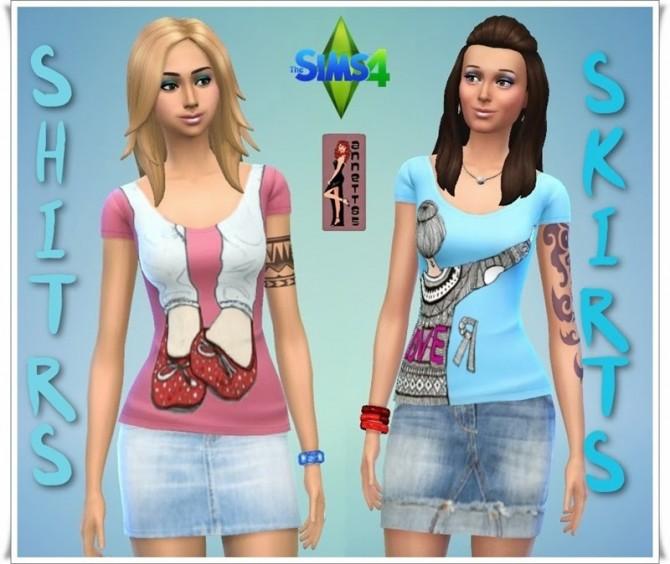 Shirts & Denim Skirts at Annett's Sims 4 Welt image 4831 Sims 4 Updates