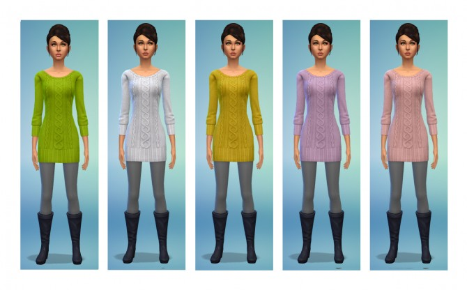 5 dress recolors at Simsnacks image 490 Sims 4 Updates