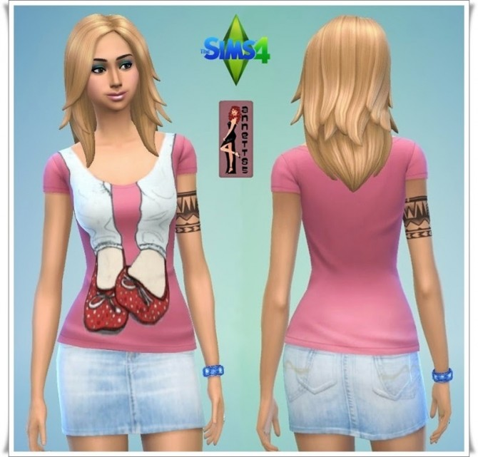 Shirts & Denim Skirts at Annett's Sims 4 Welt image 4931 Sims 4 Updates