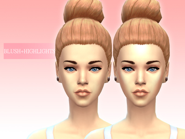 Sims 4 Blush + highlights by OnigiriSims at The Sims Resource