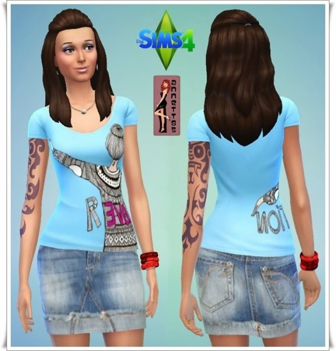 Shirts & Denim Skirts at Annett's Sims 4 Welt image 5030 Sims 4 Updates