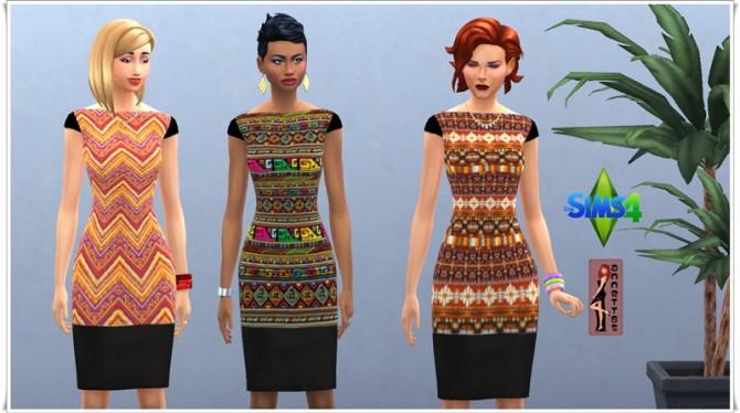 Sims 4 Aztec dresses at Annett's Sims 4 Welt