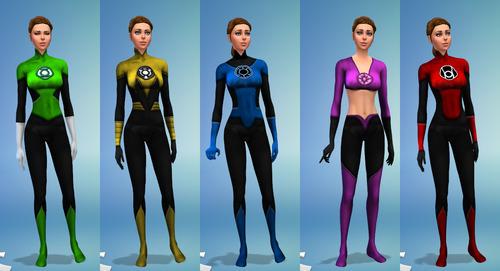 All Nine Lantern Corps Uniforms At Sambler 187 Sims 4 Updates