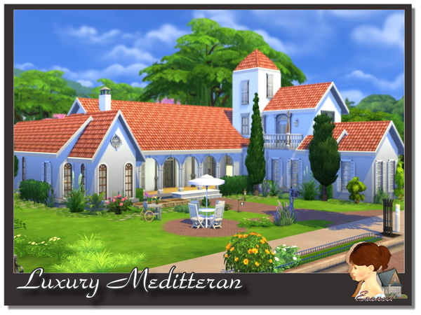 Luxury Meditterane house by Evanell at The Sims Resource image 5104 Sims 4 Updates
