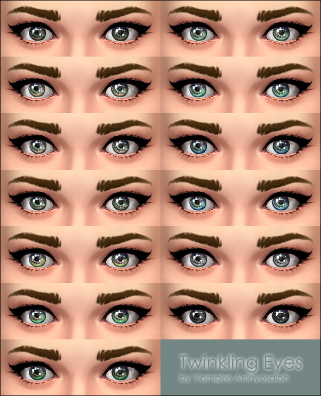 Twinkling Eyes by Vampire aninyosaloh at Mod The Sims image 5110 Sims 4 Updates