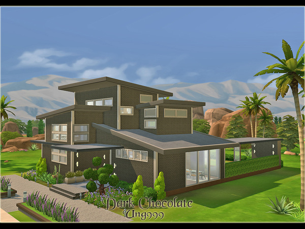 Dark Chocolate house by ung999 at TSR image 5130 Sims 4 Updates