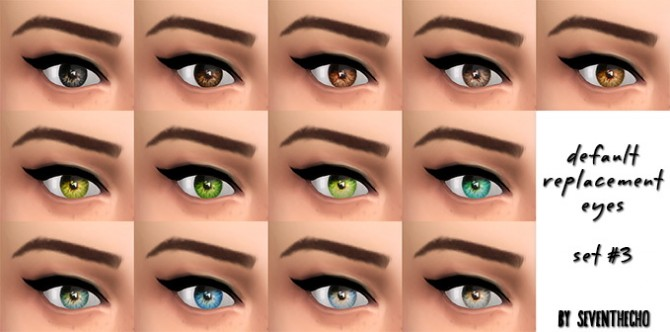 Sims 4 Default Replacement Eyes at Seventhecho