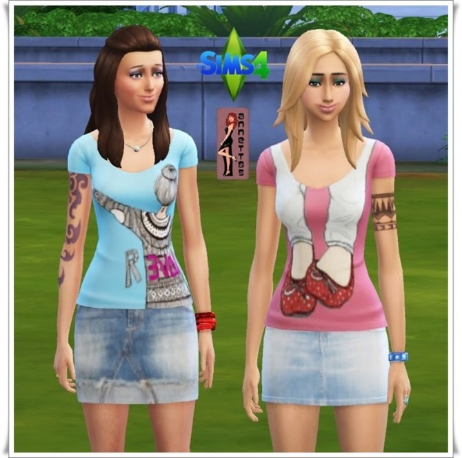 Shirts & Denim Skirts at Annett's Sims 4 Welt image 5143 Sims 4 Updates