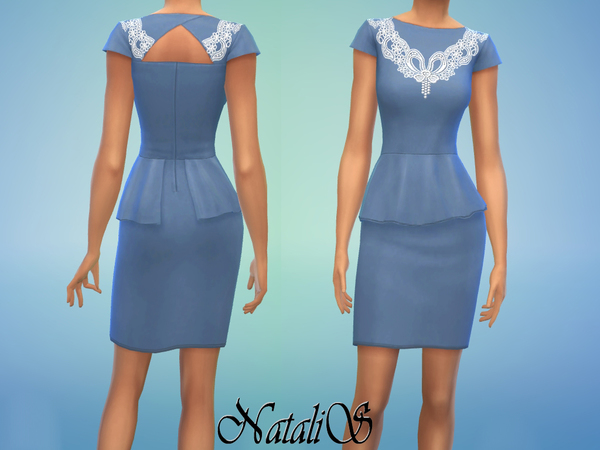 Lace insert dress FA YA by NataliS at TSR image 5145 Sims 4 Updates