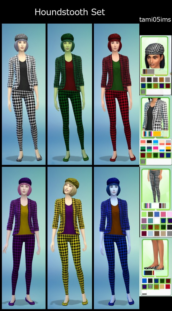 Houndstooth jacket, pants, shoes and hat at Life Sims – tami05ims image 521 Sims 4 Updates