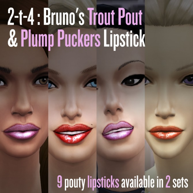 Bruno's Trout Pout & Plump Puckers lipstick converted to TS4 at Literally FRIST image 5237 Sims 4 Updates