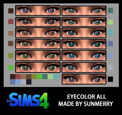 Sims 4 Pure Eyes at Sunmerr ri sim