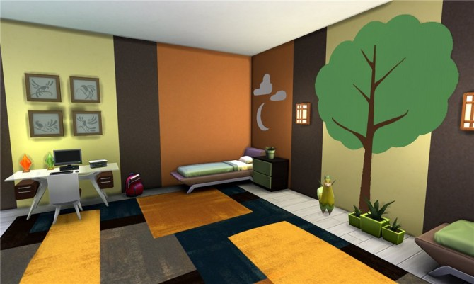 Llama Tree Kids Room By Ihelen At Ihelensims Sims 4 Updates