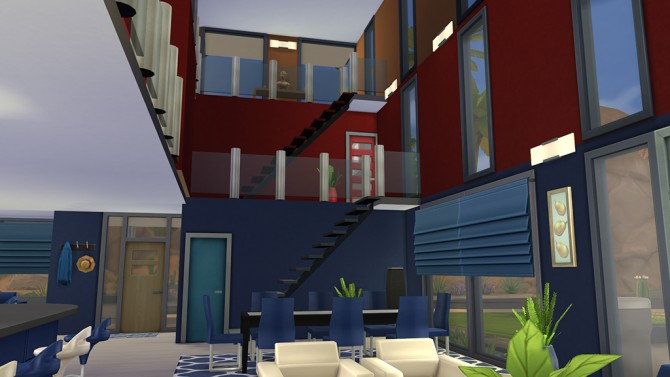 Sims 4 Triune house by MrDemeulemeester at Mod The Sims