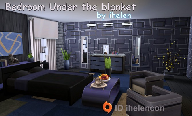 Bedroom under the blanket at ihelensims sims 4 updates for Bedroom designs sims 4