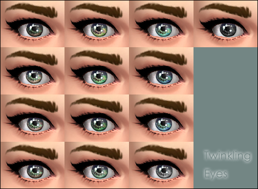 Twinkling Eyes by Vampire aninyosaloh at Mod The Sims image 536 Sims 4 Updates