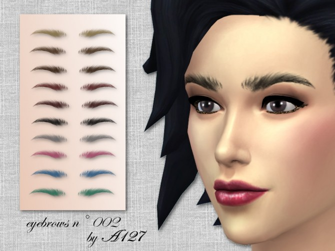 Sims 4 Eyebrows n°002 at Altea127 SimsVogue