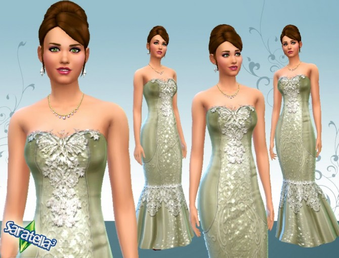 Precious Bride dress at Saratella's Place image 546 Sims 4 Updates
