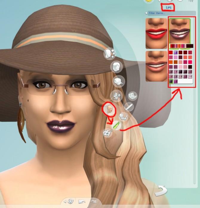Sims 4 12 Custom Fantasy Lip Gloss Colors at The Simsperience