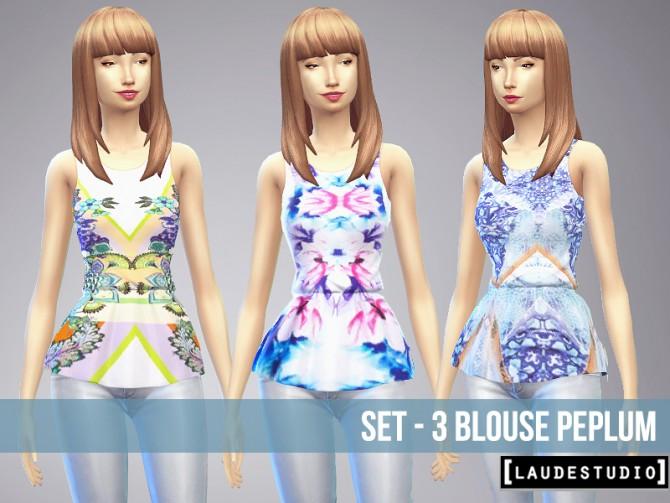 3 Peplum blouses at Laude Studio image 5621 Sims 4 Updates