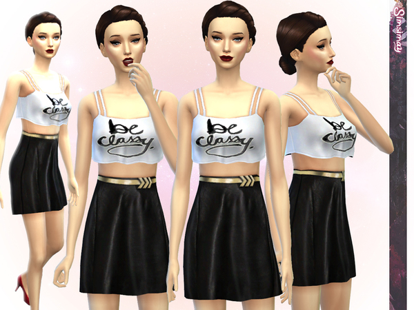 Be Classy Outfit by Simsimay at The Sims Resource image 5713 Sims 4 Updates