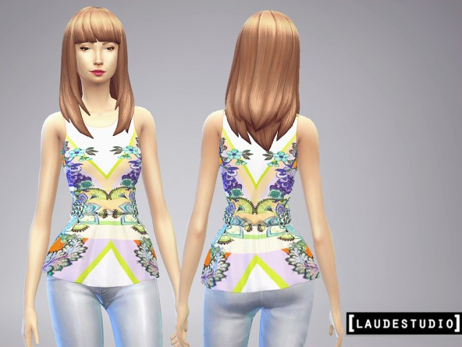 3 Peplum blouses at Laude Studio image 5722 Sims 4 Updates