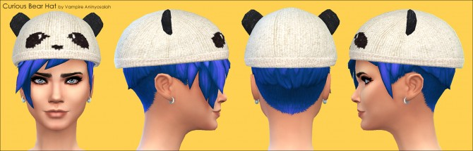 Curious Bear Hat ALL ages & genders by Vampire aninyosaloh at Mod The Sims image 5727 Sims 4 Updates