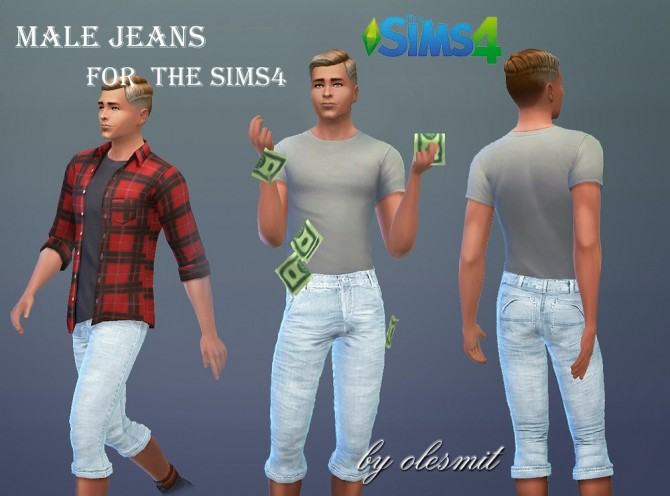 Sims 4 Male Jeans by Olesmit at OleSims