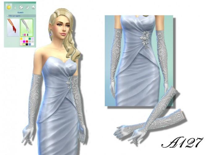 Sims 4 Lace long Gloves at Altea127 SimsVogue