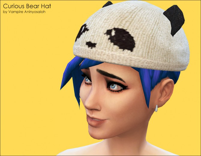 Curious Bear Hat ALL ages & genders by Vampire aninyosaloh at Mod The Sims image 5828 Sims 4 Updates