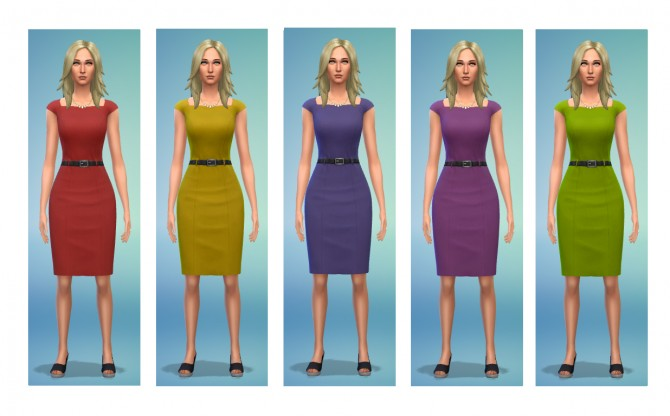 5 dress recolors at Simsnacks image 590 Sims 4 Updates