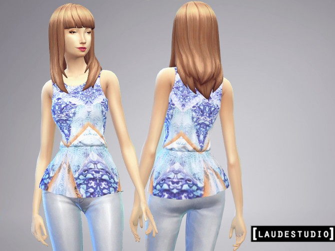 3 Peplum blouses at Laude Studio image 5919 Sims 4 Updates