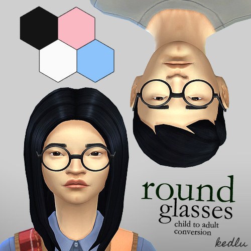 Round Glasses For Kids By Kedlu At Mod The Sims 187 Sims 4
