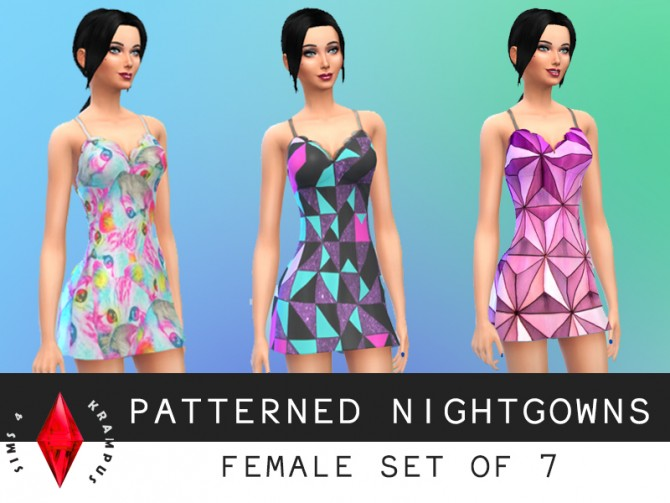 Patterned nightgowns at Sims 4 Krampus image 5936 Sims 4 Updates