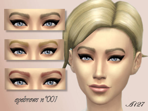 Sims 4 Eyebrows n001 by altea127 at The Sims Resource
