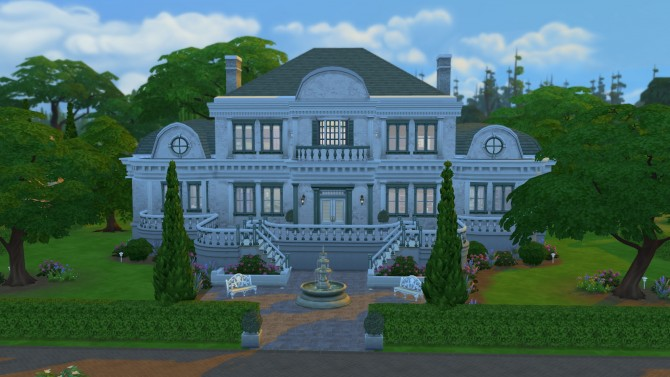 Sims 4 The Bel Aire Mansion by Ruth Kay at Simply Ruthless