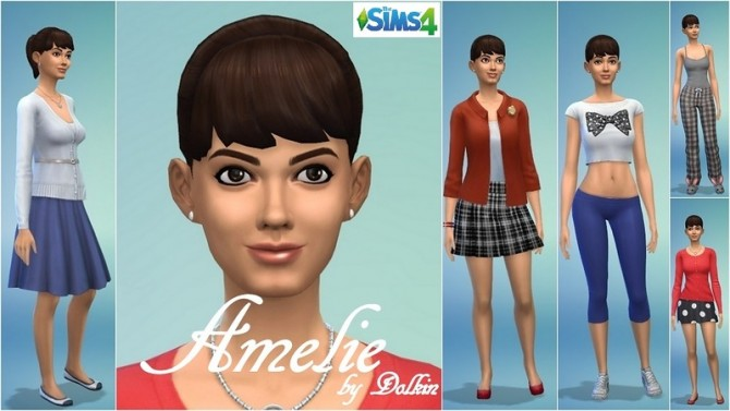 Sims 4 Amelie by Dolkin at ihelensims