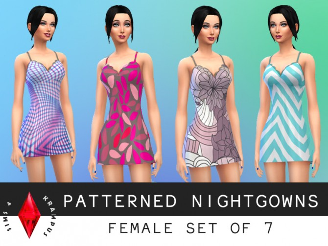 Patterned nightgowns at Sims 4 Krampus image 6035 Sims 4 Updates