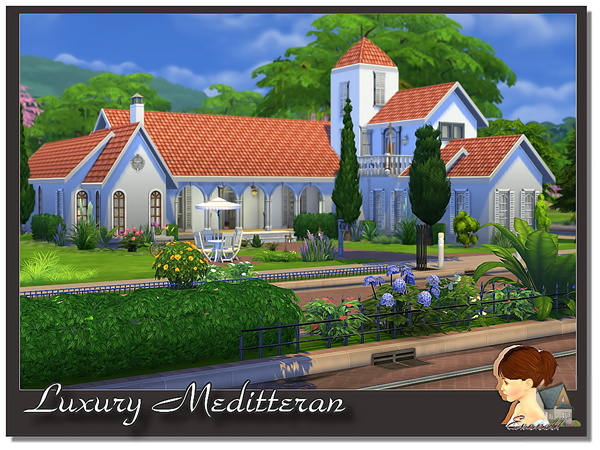 Luxury Meditterane house by Evanell at The Sims Resource image 6103 Sims 4 Updates