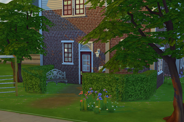 Sims 4 Brick Idyll house by Mammut at Blacky's Sims Zoo