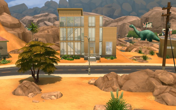 Sims 4 Desert Burrow house by lukok at Mod The Sims