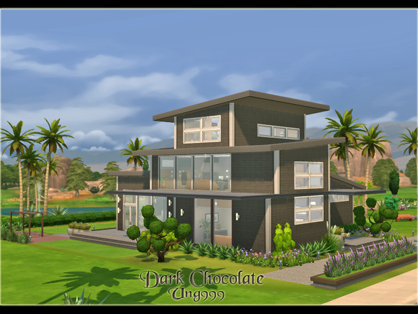 Dark Chocolate house by ung999 at TSR image 6128 Sims 4 Updates