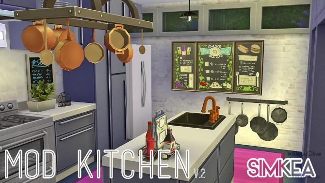Mod Kitchen V.2 at Simkea image 614 Sims 4 Updates