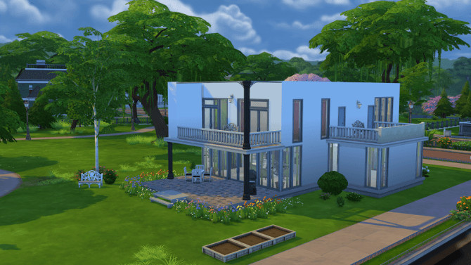 Sims 4 Modern House 1 by Michaela P. at 19 Sims 4 Blog