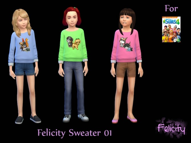 Sims 4 Felicity Blouse 01 and Sweater 01 at Sims and Just Stuff